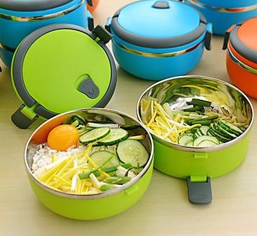 ظرف غذای دو جداره یک طبقه lunch box